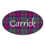 Tartan - Carrick Sticker (Oval)