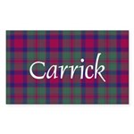 Tartan - Carrick Sticker (Rectangle)