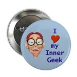 "Boy Inner Geek 2.25"" Button (100 pack)"