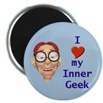"Boy Inner Geek 2.25"" Magnet (10 pack)"