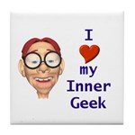 Boy Inner Geek Tile Coaster