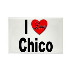 I Love Chico Rectangle Magnet