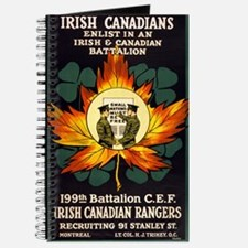 irish canadians enlist in an irish and canadian ba
