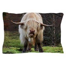 White highland cow Pillow Case