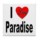 I Love Paradise Tile Coaster