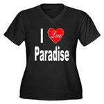 I Love Paradise (Front) Women's Plus Size V-Neck D