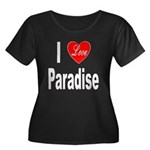 I Love Paradise (Front) Women's Plus Size Scoop Ne