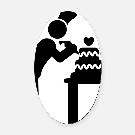 Cake-Decorating-AAA1 Oval Car Magnet