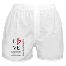 Deuteronomy 6:5 Boxer Shorts