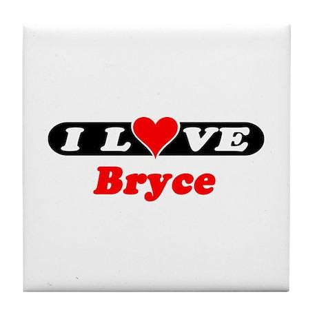 I Love Bryce Tile Coaster