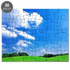 Clouds Over Field Puzzle