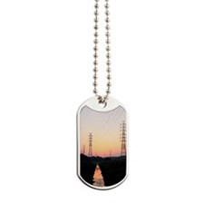 Electricity Pylons at dusk, Chiba Prefect Dog Tags