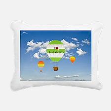 I Love San Mateo Rectangular Canvas Pillow