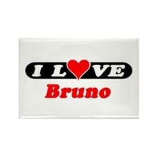 I Love Bruno Rectangle Magnet