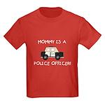 Mommy Police Officer Kids Dark T-Shirt
