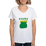 Lucky Pot O'Gold Women's V-Neck T-Shirt