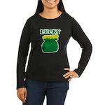 Lucky Pot O'Gold Women's Long Sleeve Dark T-Shirt