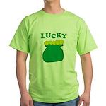 Lucky Pot O'Gold Green T-Shirt