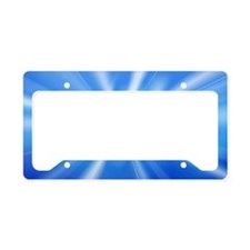 Blue Abstract License Plate Holder