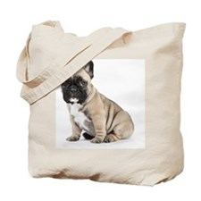 Pedigree French Bulldog Puppy looking to  Tote Bag