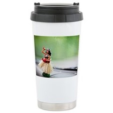 Hula dancer on dashboar Travel Mug
