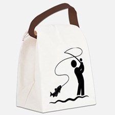 Fly-Fishing-AAA1 Canvas Lunch Bag