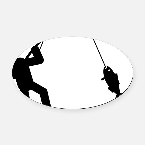 Fishing-AAA1 Oval Car Magnet