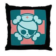 molly-rn-red-CRD Throw Pillow
