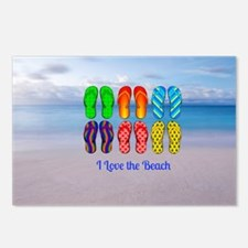 I Love the Beach - Colorf Postcards (Package of 8)