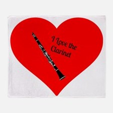 I Love the Clarinet Throw Blanket