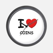 I love coins  Wall Clock