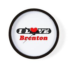 I Love Brenton Wall Clock