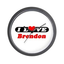 I Love Brendon Wall Clock