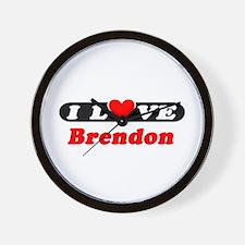 I Love Brendon Wall Clock