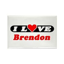 I Love Brendon Rectangle Magnet