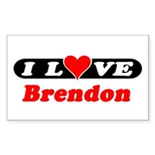 I Love Brendon Rectangle Decal