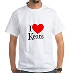 I Love Keats White T-Shirt