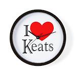 I Love Keats Wall Clock