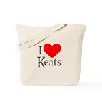 I Love Keats Tote Bag
