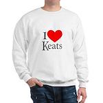 I Love Keats Sweatshirt