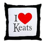 I Love Keats Throw Pillow