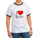 I Love Keats Ringer T