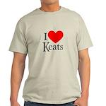 I Love Keats Light T-Shirt