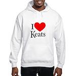 I Love Keats Hooded Sweatshirt