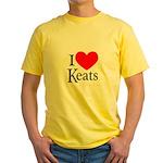 I Love Keats Yellow T-Shirt