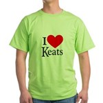 I Love Keats Green T-Shirt