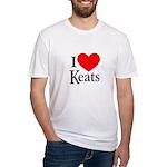 I Love Keats Fitted T-Shirt