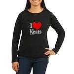 I Love Keats Women's Long Sleeve Dark T-Shirt