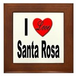 I Love Santa Rosa Framed Tile