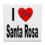 I Love Santa Rosa Tile Coaster